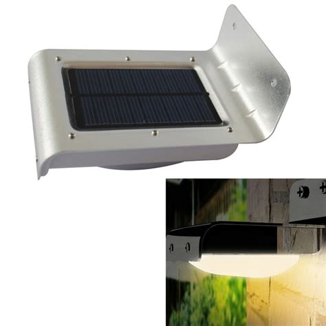 16 led solar power sensor l sound motion detect garden