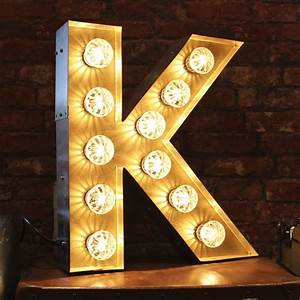 large marquee light up letter k vintage k letter light With light up letter k