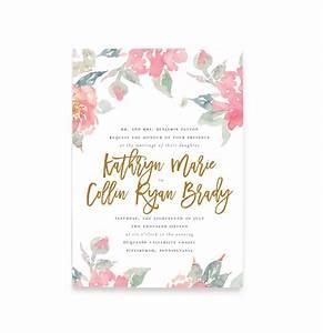 watercolor floral wedding invitations free shipping With watercolor flower wedding invitations free