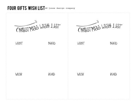 wish list in exchange gift how we do in our family