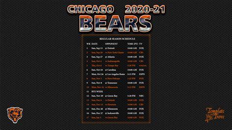 chicago bears wallpaper schedule