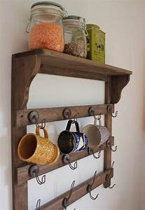 Wooden, Wall, Shelf, With, Hooks, By, The, Forest, U0026, Co