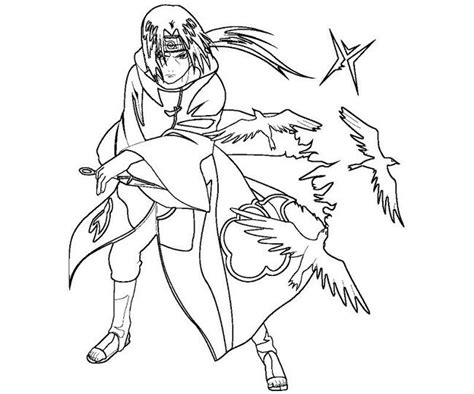 Coloring Page Of Itachi