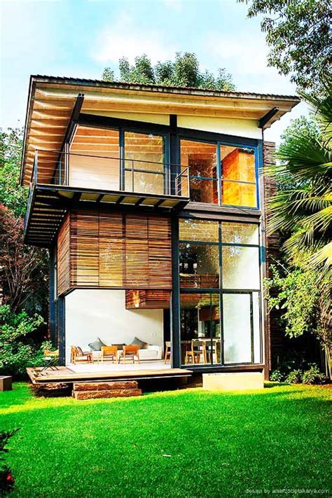 rumah kayu minimalis terbaru  desain rumah minimalis