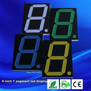 Outdoor Led 8 U0026quot  Number Display Large 7 Segment Led Display 1 Digit 8 Inch  View 7 Segment Led