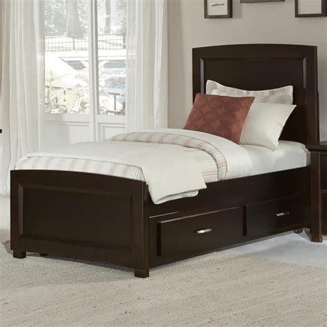 vaughan bassett transitions twin panel bed  trundle