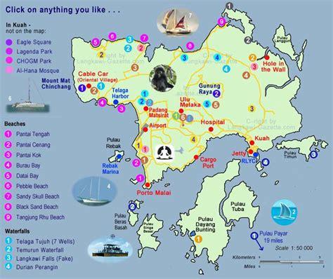 langkawi map map  langkawi