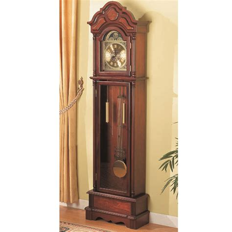 traditional grandfather clock floor westminster pendulum chimes brown ebay