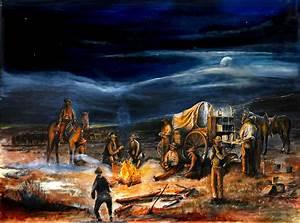 The Chuck Wagon Night Moon Campfire by Rahming.jpg (1250 ...