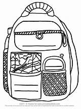 Backpack Coloring Printable Activities Printables Pages Activity Kindergarten Sheet Pre Preschool Writing Worksheet Worksheets Word Puzzles Address Backpacks Phone Printables4kids sketch template