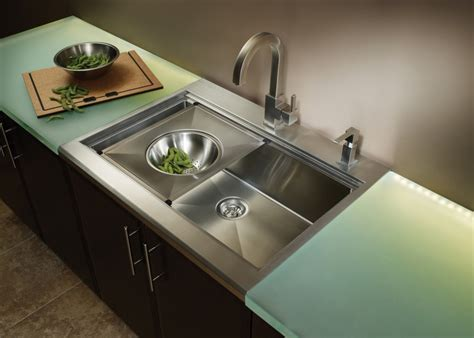Kitchen : Grey Metal Kitchen Sink Cover With Green Wooden