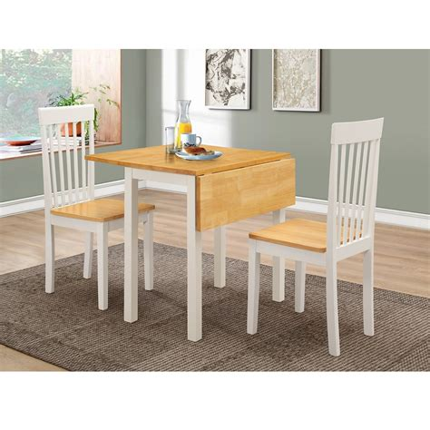 drop leaf table and dining chairs set