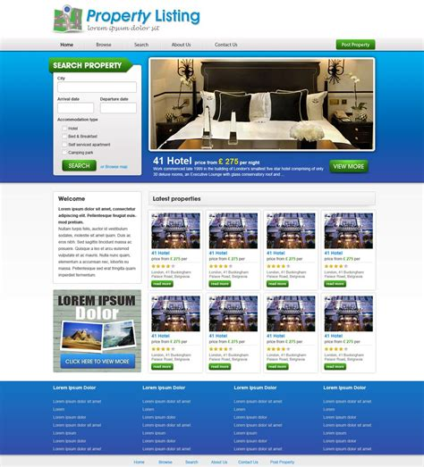 Real Estate Templates Real Estate Website Template Free Real Estate Web