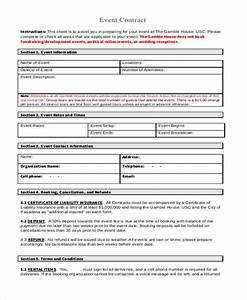 Party Planner Contract Sample Free 8 Event Contract Forms In Pdf Ms Word