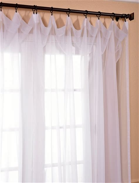 White Sheer Voile Curtains by Signature Layered White Sheer Curtains Drapes