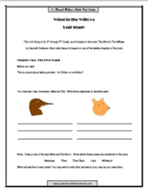 wind in the willows unit study
