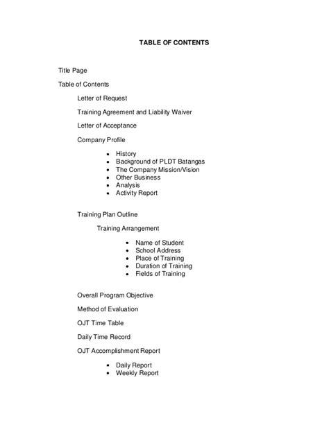 ojt final documentation