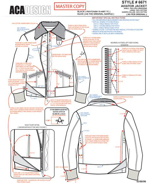 tech pack template fashion technical design exle work on behance