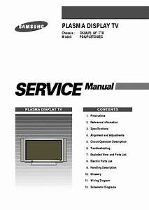 Samsung D53a Chassis Ps42p2std Plasma Tv Sm Service Manual