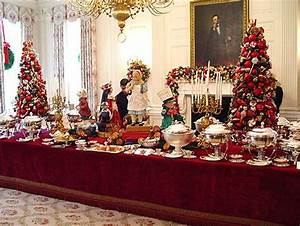 Buffet table at the White House Tablescapes