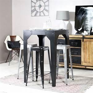 Table Mange Debout Style Industriel : mange debout industriel noir 70 cm meubles de cuisine made in meubles mange debout mange ~ Melissatoandfro.com Idées de Décoration