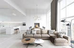 spacious modern living room interiors - Wohnzimmer Le
