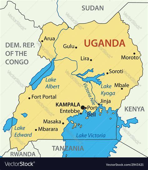 republic  uganda map royalty  vector image