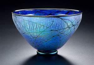 Blue, Lustre, Bowl, By, David, Lindsay, Art, Glass, Bowl