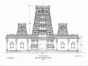 Hindu Temple Drawing