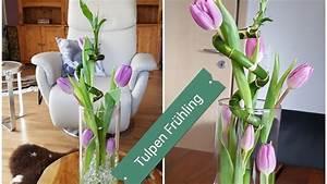 Frühlingsdeko Im Glas : fr hlingsdeko 2018 tulpen im glas mit bambus tulpendeko tischdeko fr hlingsdeko bambus ~ Orissabook.com Haus und Dekorationen