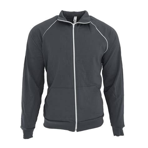 Track Jacket by American Apparel Unisex California Fleece Zip Sports