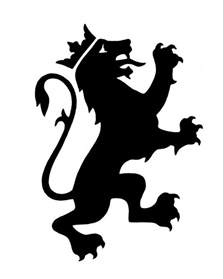 Lion with Crown Silhouette