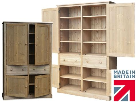 Pantry Cupboards by Solid Pine Cupboard Handcrafted Waxed Larder Pantry