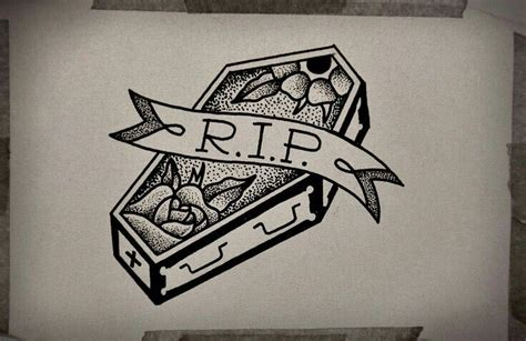 incredible coffin tattoos designs