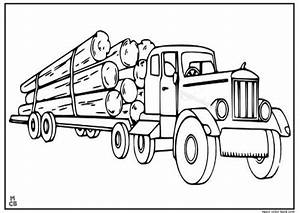Free Logging Truck Coloring Pages