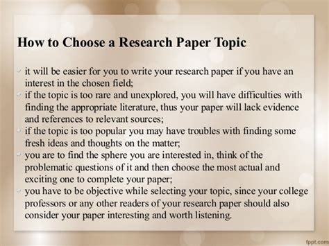 interesting things to write a research paper on purchase