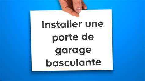 cablage electrique cuisine installer une porte de garage basculante castorama