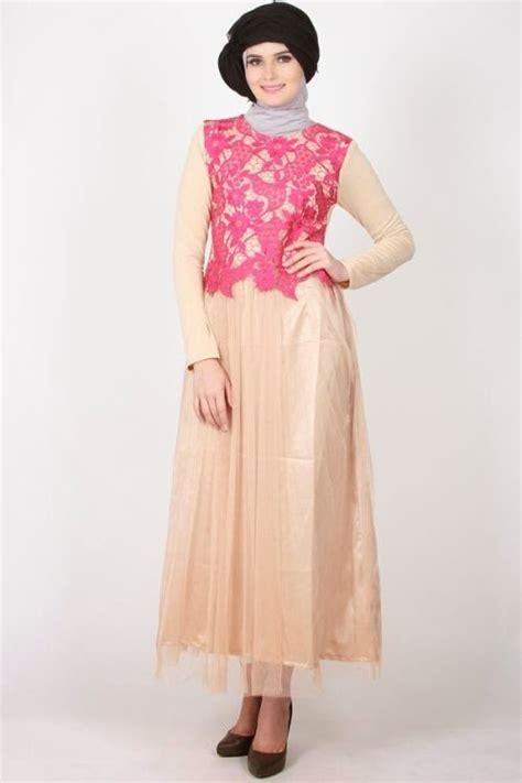 contoh baju gamis muslim brokat terbaru