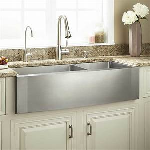 36quot optimum 60 40 offset double bowl stainless steel for 40 inch farmhouse sink