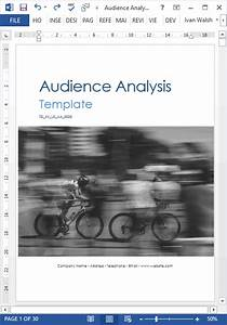 Audience Analysis Template  30 Page Ms Word   Ms Excel