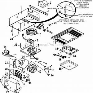 Broan 657 Parts List And Diagram   Ereplacementparts Com