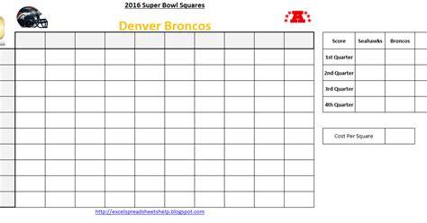 excel spreadsheets  super bowl squares  excel