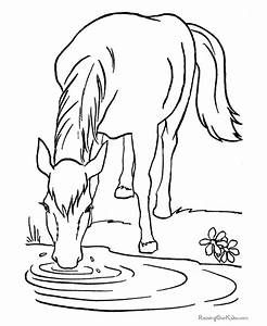 Domestic Animals Coloring Pages - Coloring Home