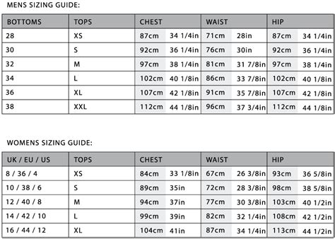 size chart starboard apparel starboard apparel