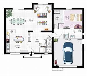 demeure familiale 2 detail du plan de demeure familiale With faire sa maison en 3d 9 porte de garage ooreka