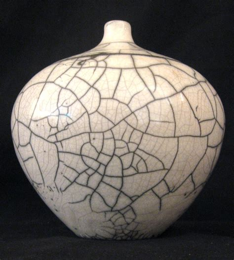 raku crackle glaze artist unknown raku ceramic