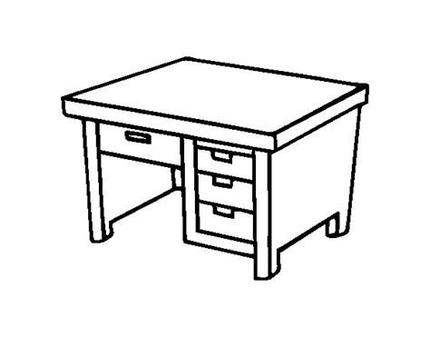 dessin de bureau coloriage de bureau avec tiroirs pour colorier coloritou com
