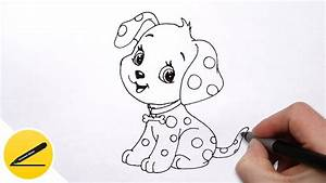How to Draw a Dog (Puppy) for Kids - Cute Drawing of ...
