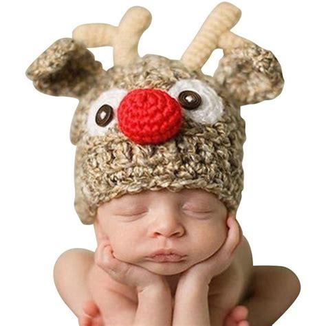 reindeer crochet hat   perfect photo prop