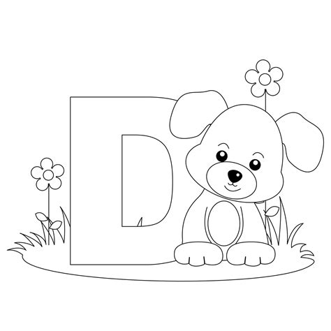free printable alphabet coloring pages for best 517 | alphabet coloring pages Letter D